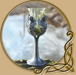 Oak Leaves historical glass goblet